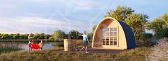 Camping pod BRETAGNE 12m² 3x4 30mm log cabin