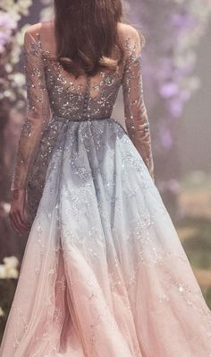 """aishwaryaraii: Looks from Paolo Sebastian 'Once Upon a Dream' S/S 2018 Haute Couture """" Blue Wedding Dresses, Prom Dresses, Formal Dresses, Stunning Dresses, Pretty Dresses, Fantasy Gowns, Fairytale Dress, Dream Dress, Ball Gowns"""