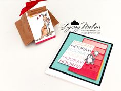 Stamping Sunday Blog Hop - Paper Party Hooray Hooray, Cute Animals Images, Specialty Paper, Red Rhinestone, Cloud 9, Crafty Projects, Food Print, Stamping, Card Stock