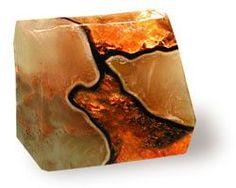 Fire Geode Soap Rock