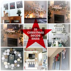 15 Christmas Decor Ideas - Anything & EverythingAnything & Everything Rustic Christmas, Christmas And New Year, All Things Christmas, Christmas Time, Christmas Ideas, Christmas Crafts, Merry Christmas, Christmas Decorations, Xmas
