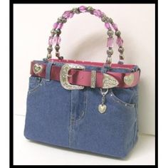Jeans Purse - I REALLY love this...  Wish I was handy so I could make one!
