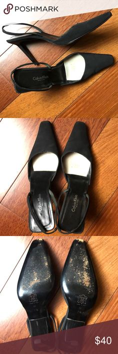 e06a658023 Vintage 90's Calvin Klein Slingbacks Excellent condition, leather sole and  insole, sturdy high quality
