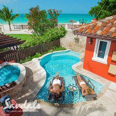 The Mediterranean One Bedroom Butler Villa Suite w/Private Pool Sanctuary. | Sandals Resorts | Antigua