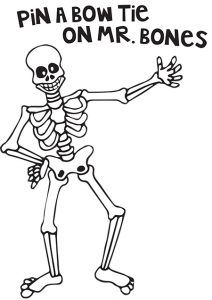Pin the Bow Tie on Mr. Bones and 11 more Halloween
