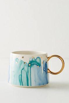 Night Sky Cup becher Nacht porcelaine Sky Nachthimmel Cup Tasse Nacht Porzellan Himmel day gifts for him diy Ceramic Mugs, Ceramic Pottery, Ceramic Art, Blue Pottery, Ceramic Tableware, Pottery Vase, Vintage Ceramic, Crackpot Café, Anthropologie Gifts