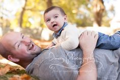 six month portrait, outdoor family portraits, baby with dad poses, outdoor fall portraits © Dimery Photography 2013