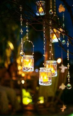 Dreaming of a tropical wedding? Check out Melissa and Joe's Turks and Caicos Island wedding photographed by Attimi Photography. Decoration Christmas, Candle Lanterns, Hanging Candles, Fairy Lanterns, Hanging Lights, Candle Jars, Candle Holders, Beautiful Lights, Romantic Lights