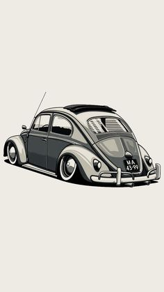 Volkswagen Polo, Vw T1, Kdf Wagen, Vw Vintage, Car Illustration, Vw Cars, Car Drawings, Automotive Art, Vw Beetles
