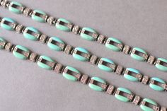 Vintage statement collar necklace bold bracelet set party silver turquoise fashion costume jewelry women 80s