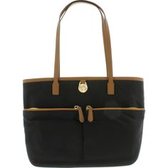 In this fast-paced, modern world, you simply cannot go wrong with this ultra-chic tote by Michael Kors. Featuring a roomy 12 inch depth, with 6 pockets, you will be sure to have plenty of space to keep all of your accoutrements within reach. The 9 inch double handle is easy and comfortable to carry, while keeping you looking classy and hip.