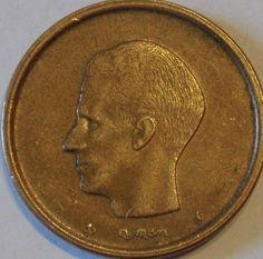 Belgium 20 Franc Frank Coins Belgique Belgian European
