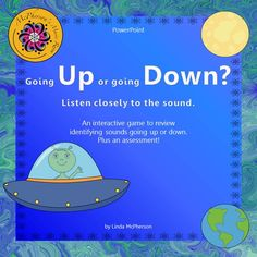 Students will love reviewing melodic direction (up and down) in this interactive music game!  Watch the spaceship travel to earth or to the moon when the correct answer is selected.  A quick formative assessment is also included.