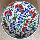 Ceramic cini Plate By Kutahya Cini. Turkish Art, Turkish Tiles, Ceramic Plates, Decorative Plates, Polish Folk Art, Ottoman, Glazed Tiles, Pottery Making, Bronze Age