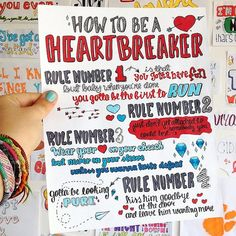 How to Be a Heart Breaker by Marina and The by maryanasims on Etsy