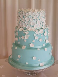 Duck Egg Blue White Flowers Wedding Cake Gallery Birthday And All Celebration Cakes By Elizabeth Miles Based In Shaftesbury Dorset