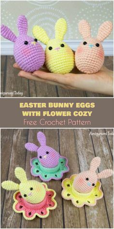 Easter Bunny Egg and Flower Cozy Free Pattern | Your Crochet