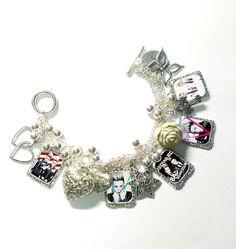 jedward  JOHN & EDWARD X Factor  charm bracelet necklace by MFORU, $15.00