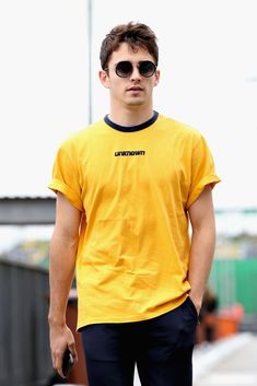 Charles Leclerc of Monaco and Sauber walks in the Paddock before practice for the Formula One Grand Prix of Brazil at Autodromo Jose Carlos Pace on November 2018 in Sao Paulo, Brazil. Get premium, high resolution news photos at Getty Images Monaco, Funeral, Ferrari F12berlinetta, Ferrari World, Thing 1, F1 Drivers, Face Men, F 1, Formula One