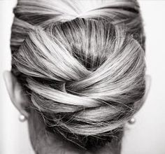 My Hairy Idea :  wedding bun styles updo wedding hair Knotted Hair 3
