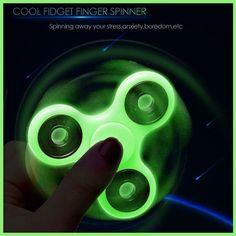 Luminous Tri Fidget Spinner Light in Dark