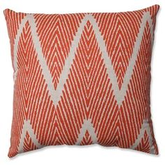 Pillow Perfect Bali Mandarin Throw Pillow Beige, Size 18 x 18 (Cotton, Chevron) Buy Pillows, Chevron Throw Pillows, Lumbar Throw Pillow, Modern Throw Pillows, Decorative Pillows, Plush Pillow, Knife Shapes, Zig Zag Pattern, Perfect Pillow