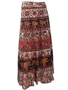 Wrap Skirt- ELEPHANT Orange Print Cotton Indian Maxi Skirts, Gift for Girls Mogul Interior http://www.amazon.com/dp/B00RL5VSGW/ref=cm_sw_r_pi_dp_SJOOub1M85D5H