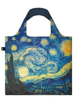 #Bag# Tasche# Sac # Bolsa#Painterly prelude. Sumptuous swirls. Nighttime delight. A sky so alive. Enter the enveloping emotional world of Vincent Van Gogh's The Starry Night.