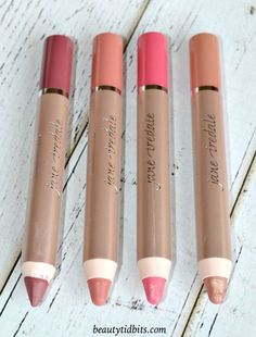 Jane Iredale PlayOn Lip Crayons Fall 2015 - Luscious, Yummy, Charming and Blissful