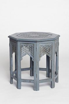 Magical Thinking Morocco Hexagon Side Table - this would be cute in my eclectic eating area