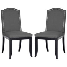 Obsessed with these dining chairs! Baudette Dining Chair - Set of 2 from the Bennett Studios event at Joss and Main! Gray Dining Chairs, Dining Chair Set, Dining Rooms, Dining Area, Kitchen Dining, Dining Table, Interior Design Living Room, Living Room Decor, Off White Walls