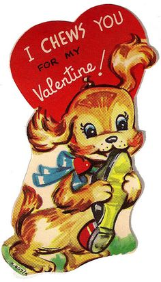 Love these vintage valentines, they were so sweet.  Wish they were still made.