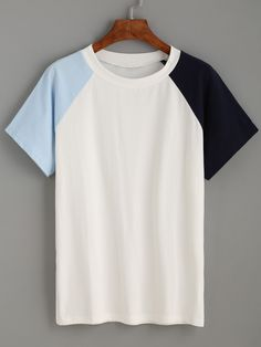 Shop White Contrast Raglan Sleeve T-shirt online. SheIn offers White Contrast Raglan Sleeve T-shirt & more to fit your fashionable needs.