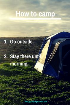How to camp in 2 easy steps