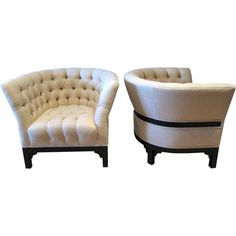 Pair of Barrel Back Lounge Chairs.