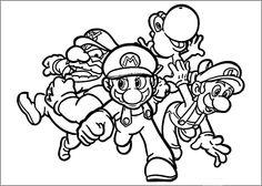 Coloriage Dessins. Dessins à imprimer et la couleur en ligne. Mario Bross 38