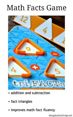 stop the summer slide with Tri-FACTa Math Facts Game