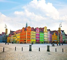 Colorful places: Wroclaw, Poland