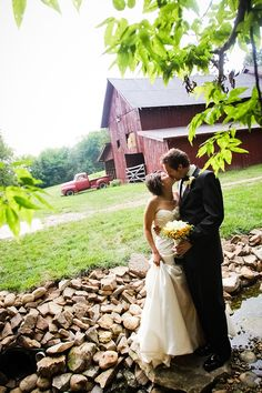 perfect backdrop for country wedding