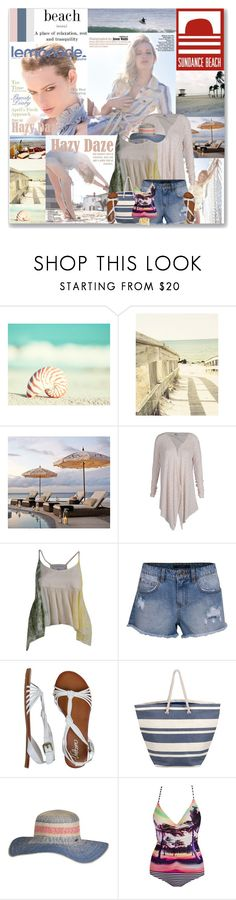 """Sundance Beach set (1) contest ft them in the details! :)"" by leannesugarplum ❤ liked on Polyvore featuring Nautilus, PATH, Pottery Barn, L*Space, Volcom, NESSA, Billabong and Two's Company"