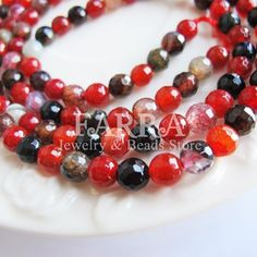 6mm Agate beads 15inch facted round agate gemstone by FARRAgem