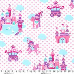 Michael Miller Fabric Princess Land 1 yard cut