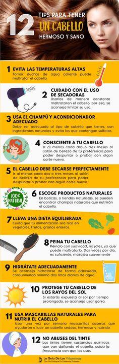 12 Tips Para Tener Un Cabello Hermoso Y Sano - La Guía de las Vitaminas