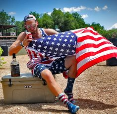 """Chase Rice just """"Americaning the shit out of his Saturday"""""""