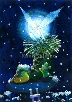 妖精 アクリル画 F6サイズ|ハンドメイド、手作り、手仕事品の通販・販売・購入ならCreema。