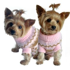 Doggie Design Snowflake Dog Sweater in Color Pink Multi