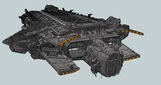 An orcish battle carrier Ironhand by KaranaK