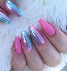 100 Nails Art Ideas // Chrome Nails // Fashion And Beauty Ideas 100 Nagelkunst Ideen / / Chrom Nägel / / Mode und Beauty-Ideen Chrome Nails Designs, Chrome Nail Art, Nail Art Designs, Bright Nail Designs, Perfect Nails, Gorgeous Nails, Pretty Nails, Fabulous Nails, Pink Nails