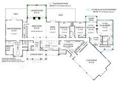 Pepperwood House Plan Pepperwood House Plan | Archival Designs | First Floor Plan