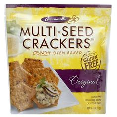Crunchmaster Multi-Seed Original whole grain Crackers 4.5 oz gluten free snacks chips #Crunchmaster #Multi-Seed #Original whole grain #Crackers 4.5 oz #glutenfree #snacks #chips great for #dips #foodie
